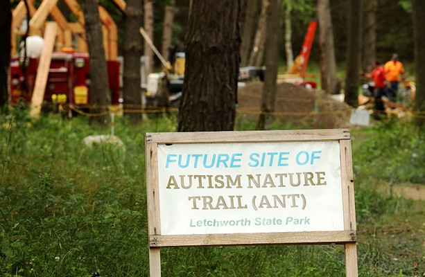 The Autism Nature Trail at Letchworth State Park is scheduled to open in the fall. - PHOTO BY MAX SCHULTE