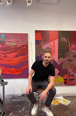 """Brooklyn-based painter Dante Cannatella's solo show, """"Nascent Digitalism,"""" is on view at UUU Art Collective through Sept. 15. - PHOTO PROVIDED"""