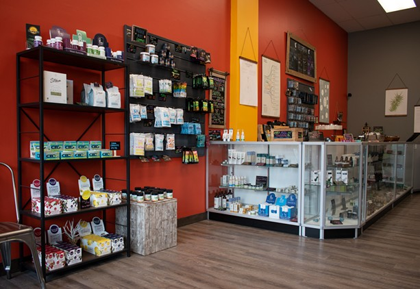 """HempSol owner Jim Mackenzie said his shop began """"gifting"""" marijuana shortly after the state legalized the recreational use of cannabis. - PHOTO BY JACOB WALSH"""