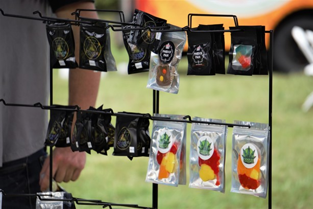 PhenoFam brand edibles from WNYTerps at the Cannabis Carnival. - PHOTO BY GINO FANELLI