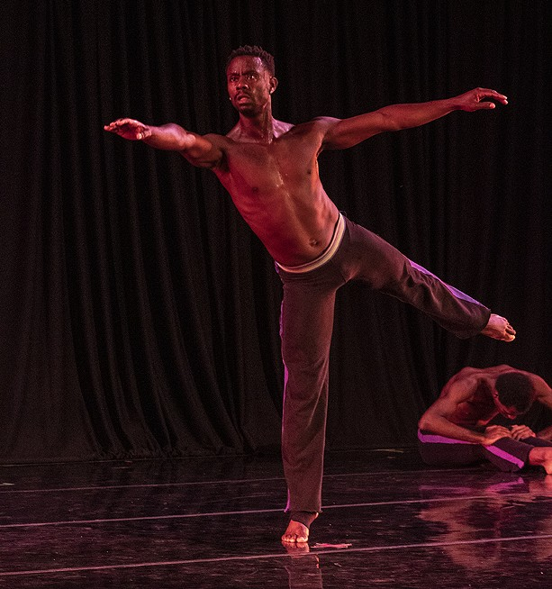 A member of Garth Fagan Dance performs during the troupe's Rochester Fringe Festival presentation on Sept. 16, 2021. - PHOTO BY ASHLEIGH DESKINS