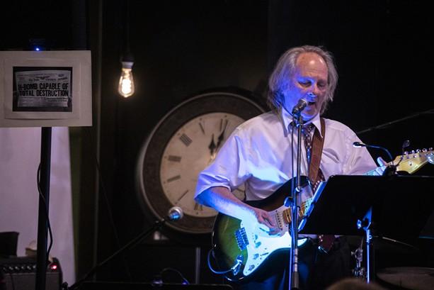 "Steve Piper of Watkins & the Rapiers sings his original songs inspired by ""The Twilight Zone"" on Sept. 22, 2021. - PHOTO BY MATT BURKHARTT"