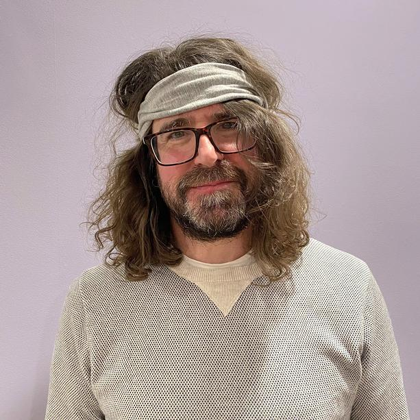 Musician Lou Barlow, best known as a member of Dinosaur Jr. and Sebadoh, plays a solo show at Bug Jar on Sept, 29, 2021. - PHOTO BY ADELLE BARLOW