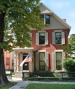 A fire Sunday destroyed the Susan B. Anthony house's back porch. - NATIONAL SUSAN B. ANTHONY MUSEUM & HOUSE