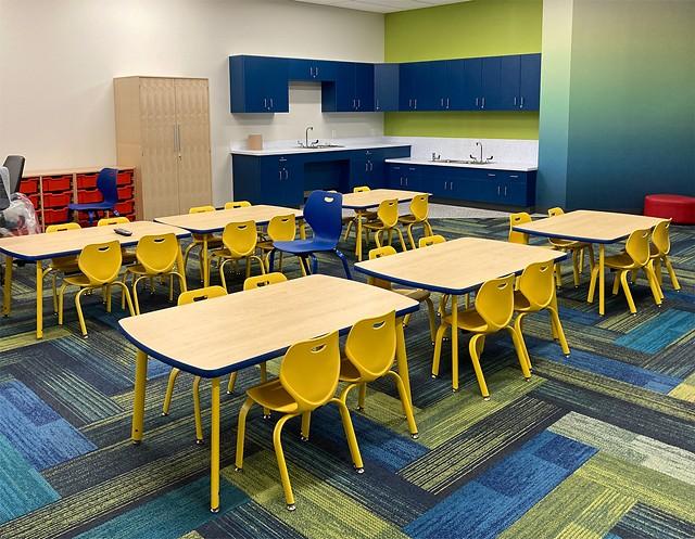 A pre-K classroom inside the new Irondequoit Community Center. - PHOTO BY JEREMY MOULE