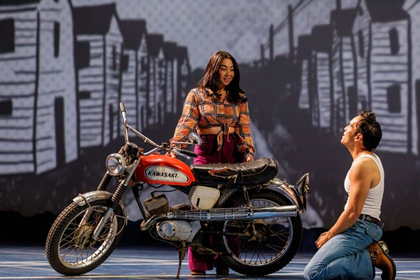 """Geena Quintos (as Tong) and Kurt Uy (as Quang) play flawed but charming characters in Geva Theatre Center's production of """"Vietgone,"""" running through Oct. 24 - PHOTO BY RON HEERKENS JR."""