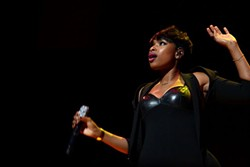 Jennifer Hudson almost brought Frank to tears when she played Kodak Hall Wednesday night. - PHOTO BY FRANK DE BLASE