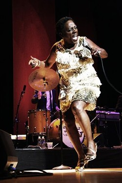 Sharon Jones and the Dap Kings performed in Kodak Hall on Thursday, June 25. - PHOTO BY FRANK DE BLASE