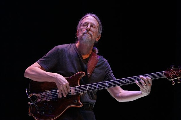 Bassist Jimmy Johnson performed with The Steve Gadd Band during its show in Kodak Hall on Friday, June 26. - PHOTO BY FRANK DE BLASE