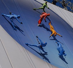 Acrobatic troupe Grounded Aerial will perform on the side of the HSBC building as part of Friday on the Fringe. - PHOTO COURTESY ROCHESTER FRINGE FESTIVAL