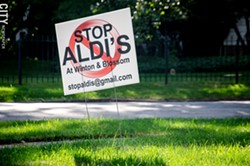 Some residents in the Browncroft and North Winton Village neighborhoods oppose a proposed Aldi at the corner of Blossom and Winton Roads. - PHOTO BY MARK CHAMBERLIN