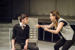 """Rusty Allen and Julie Reed in """"The R&J Project."""" - PHOTO BY MARK CHAMBERLIN"""