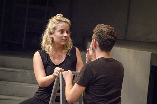 """Emily Drew and Matt McWilliams in """"The R&J Project."""" - PHOTO BY MARK CHAMBERLIN"""