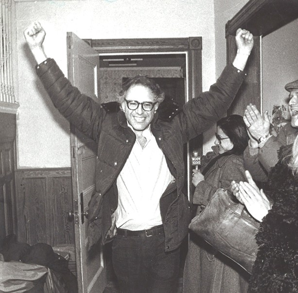 Bernie Sanders after his mayoral victory in 1981. - PHOTO BY ROB SWANSON