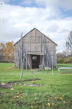 A view of the longhouse at Ganondagan. - PHOTO BY MARK CHAMBERLIN