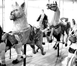 The Dentzel carousel's animals are original to it. - FILE PHOTO