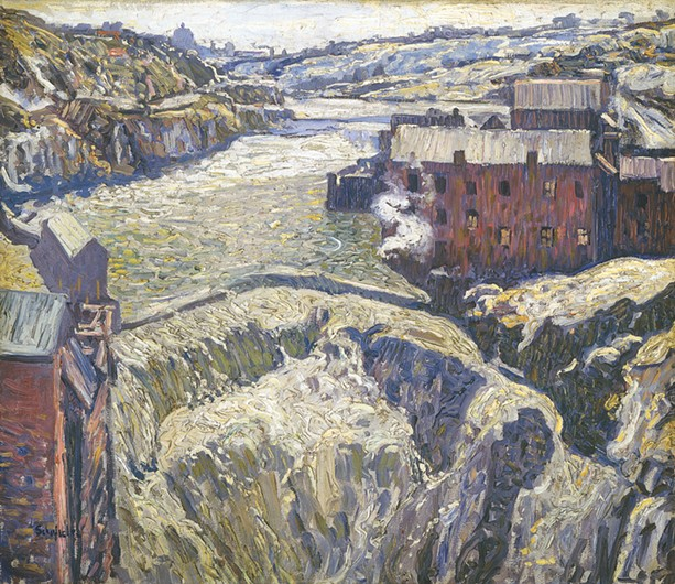 "W. Elmer Schofield, ""Lower Falls,"" - Memorial Art Gallery collection - PHOTO PROVIDED"