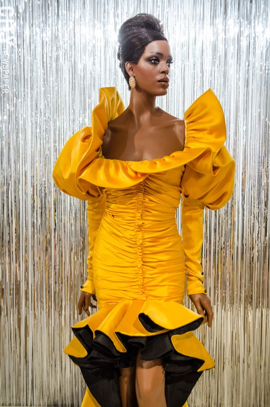 Evening dress by Emanuel Ungaro from the fall/winter 1987-88 season. - PHOTO BY MARK CHAMBERLIN