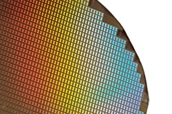 This is an example of what a semiconductor wafer looks like, though it's not exactly what will be produced in the SUNY Polytechnic facility in Greece. - FILE PHOTO