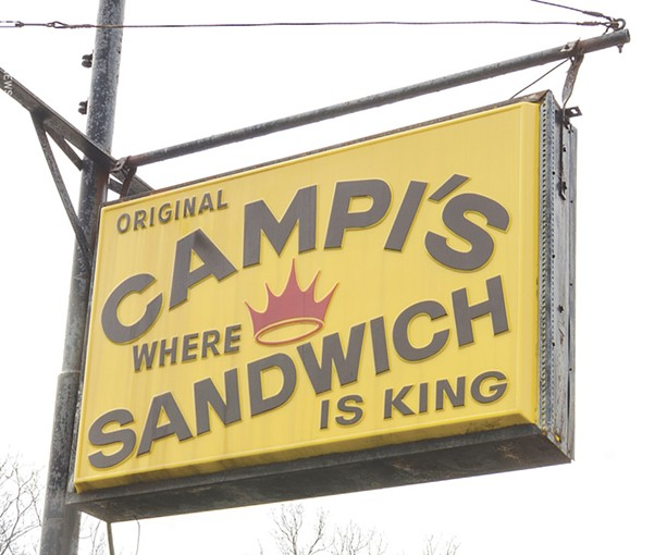 """Campi's was featured on an episode of """"Man v. Food."""" - PHOTO BY MARK CHAMBERLIN"""