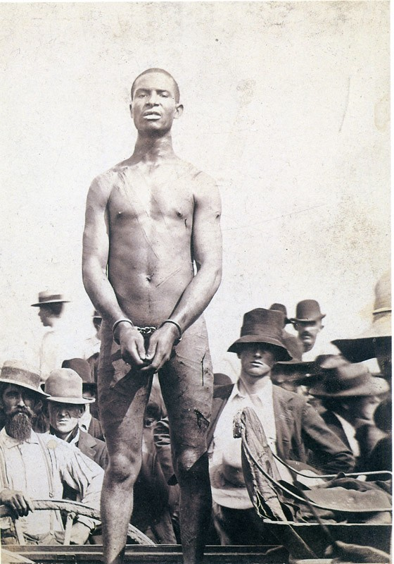"Frank Embree, before his 1899 lynching. Eison used this image in his film, ""Shadows of the Lynching Tree."" - PHOTO PROVIDED"