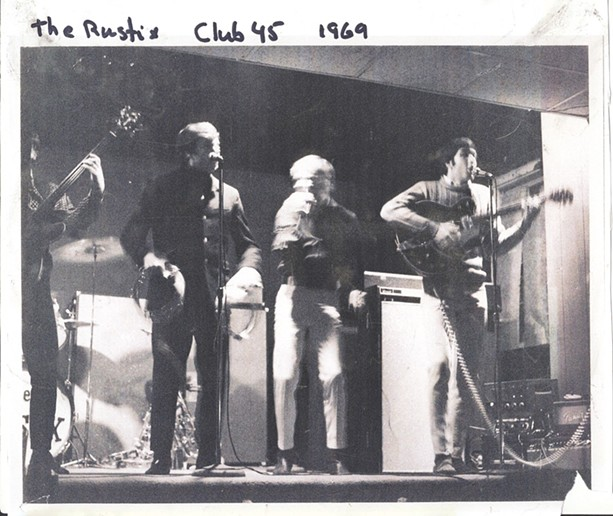 The Rustix at a Club 45 performance in 1969. The venue was on Gould Street. - PROVIDED PHOTO
