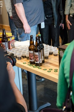 A selection of bottled beers at the new 3 Heads Brewery site. - PHOTO BY MARK CHAMBERLIN