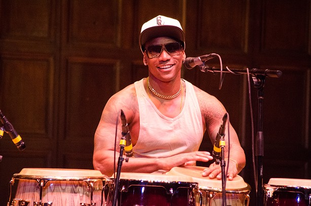 Percussionist Pedrito Martinez performed with his quartet Saturday night. - PHOTO BY MARK CHAMBERLIN