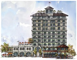 Phase one of the port project was supposed to be a 10-story hotel under Edgewater Resources' plan. - PROVIDED ART