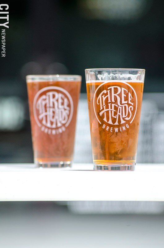 Three Heads Brewing's tasting room opened on Atlantic Avenue in June. - PHOTO BY MARK CHAMBERLIN