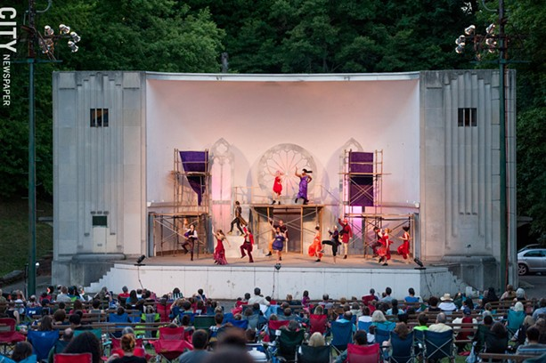 """""""Romeo and Juliet"""" was on stage at Highland Bowl during the summer. - PHOTO BY JOSH SAUNDERS"""