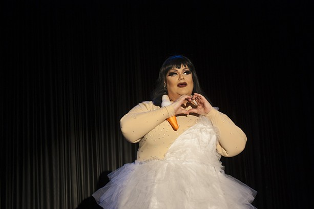 Miss Darienne Lake performed with Mrs. Kasha Davis in Big Wigs on Sunday night at Fringe. - PHOTO BY ASHLEIGH DESKINS
