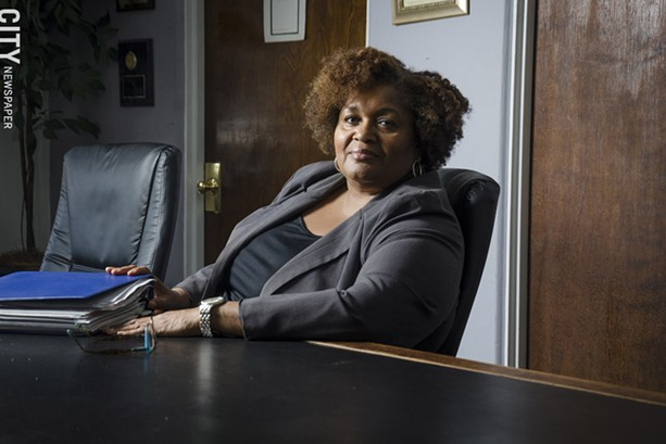 Cynthia Elliott is vice president of the Rochester school board. - PHOTO BY MARK CHAMBERLIN