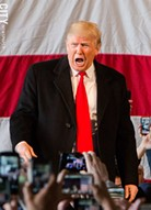 Republican presidential candidate Donald Trump during a Rochester-area rally earlier this year. - FILE PHOTO