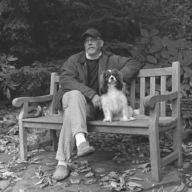 """Bella and Mark,"" a silver gelatin prints from Mark J. Watts's ""Men and Dogs"" series. - PHOTO PROVIDED"