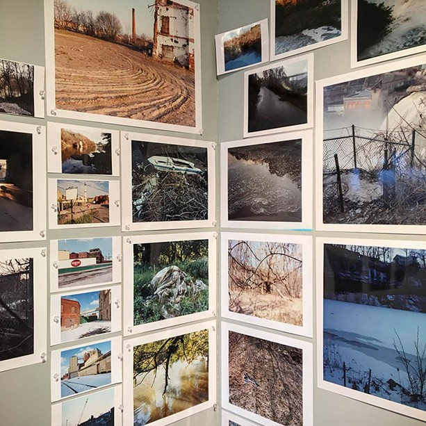 """Installation view of Dan Larkin's """"Take Me to the River,"""" in Visual Studies Workshop's Project Space. - PHOTO PROVIDED"""