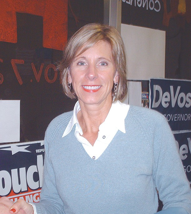 Betsy DeVos. - PHOTO BY KEITH A. ALMLI. COURTESY WIKIMEDIA