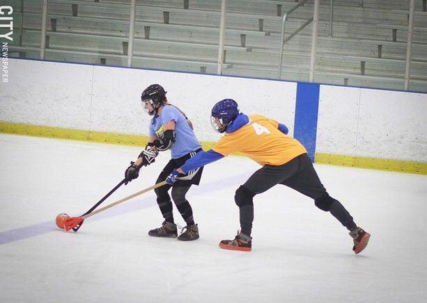 Bill Gray's Iceplex hosts a broomball league that attracts more than 70 players. - PHOTO BY KEVIN FULLER