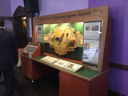 The exhibit featuring the former carousel panel is on display at the Central Church of Christ on South Plymouth Avenue until mid-May. - PHOTO BY CHRISTINE CARRIE FIEN