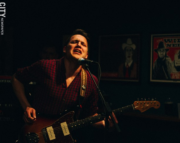 Guitarist Sean Greif during a show at Abilene Bar and Lounge. - PHOTO BY KEVIN FULLER