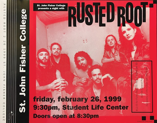 A show poster from when Rusted Root played St. John Fisher College in 1999. CITY stumbled across it in our back room during a spring cleaning day. Why we had it, no one knows. - FILE PHOTO