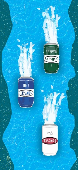 Genesee Brewing Company is floating fermentation tanks down the Erie Canal from Albany. If you want to watch them float in, they're coming into Rochester May 18. - ILLUSTRATION BY RYAN WILLIAMSON