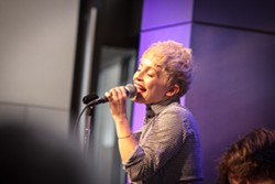 Barbra Lica played Max of Eastman Place on Friday night. - PHOTO BY FRANK DE BLASE