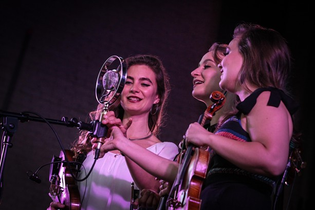 The Quebe Sisters performed in Harro East Ballroom on Saturday as part of the 2017 XRIJF. - PHOTO BY FRANK DE BLASE