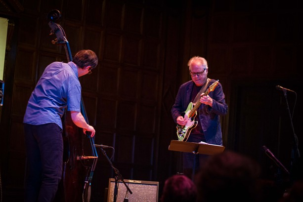 Bill Frisell and Thomas Morgan performed in Kilbourn Hall on Sunday night as part of the 2017 XRIJF. - PHOTO BY KEVIN FULLER