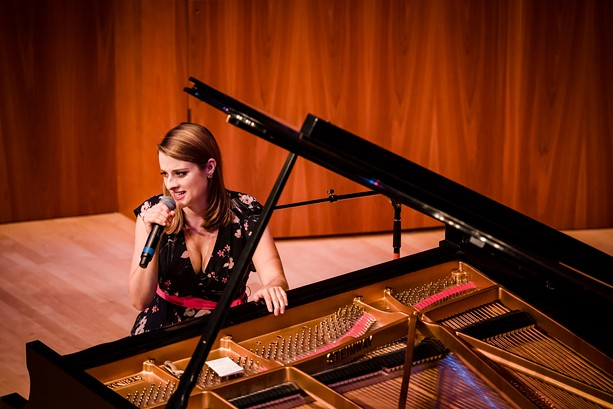 Pianist and singer Ariel Pocock performed in Hatch Hall on Friday night. - PHOTO BY JOSH SAUNDERS