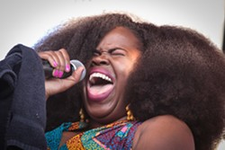 Danielle Ponder and The Tomorrow People played the Midtown Stage Saturday night at the 2017 XRIJF. - PHOTO BY FRANK DE BLASE
