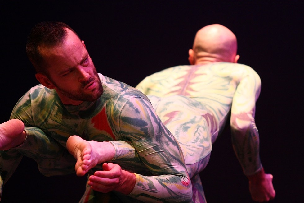 PUSH Physical Theatre performed at the School of the Arts on Saturday. - PHOTO BY FRANK DE BLASE