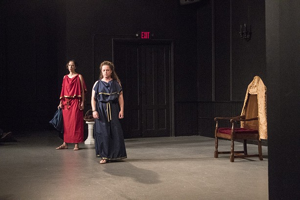 """""""Antigone"""" was performed at MuCCC as part of Fringe on Saturday. - PHOTO BY ASHLEIGH DESKINS"""