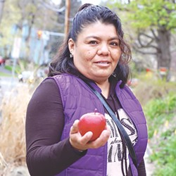 Apple farm worker Dolores Bustamante, an undocumented immigrant, fled Mexico with her daughter 13 years ago. She was pulled over for speeding in 2014 and now faces deportation. - PROVIDED PHOTO